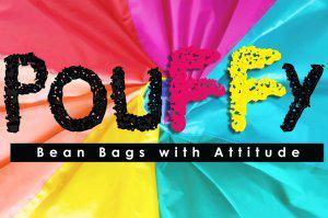 Pouffy Bean Bags Logo