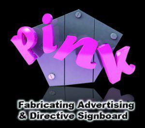 Pink Sign Maker Logo